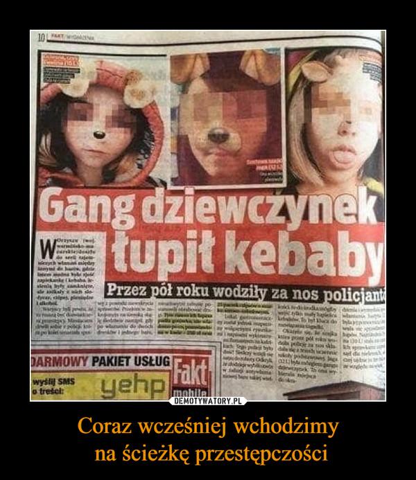 Coraz wcześniej wchodzimy na ścieżkę przestępczości –  Gang dziewczynek łupił kebaby Przez pół roku wodziły za nos policjantów