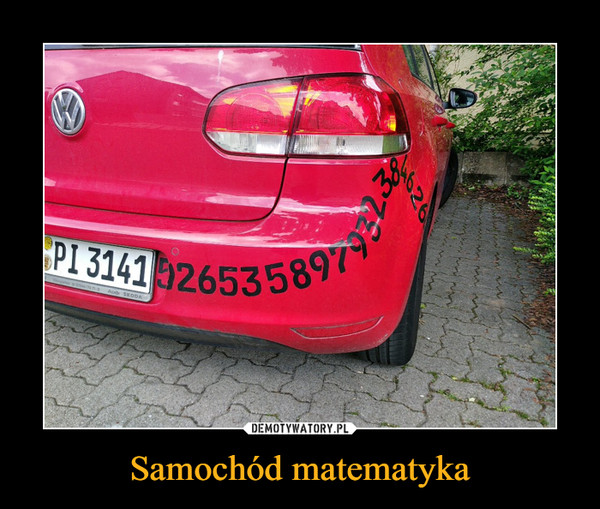 Samochód matematyka –