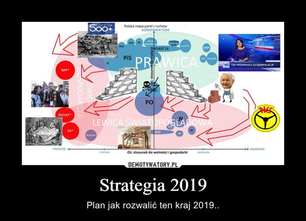 Strategia 2019 – Plan jak rozwalić ten kraj 2019..
