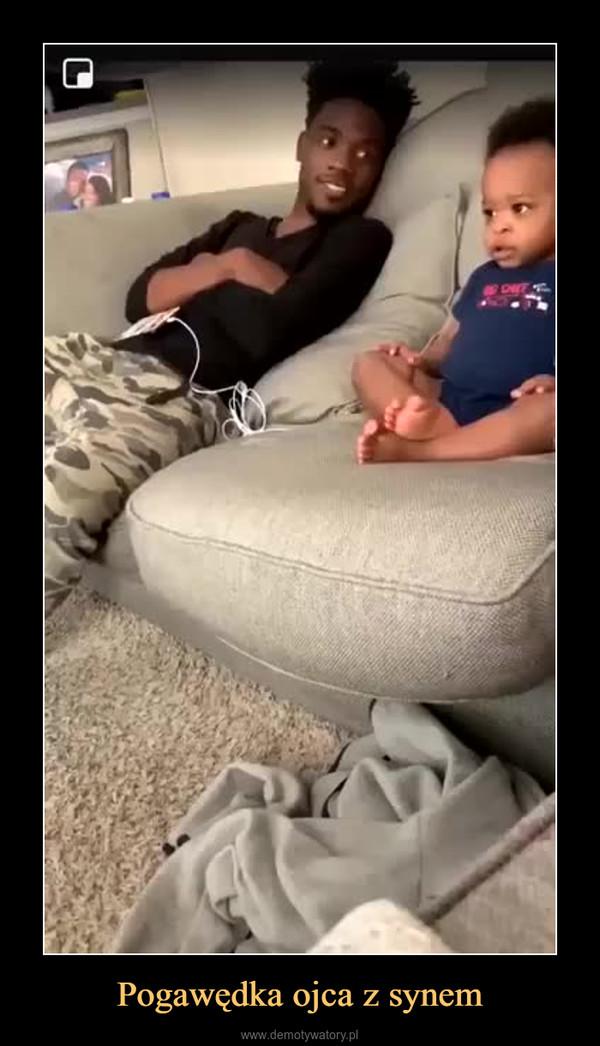 Pogawędka ojca z synem –