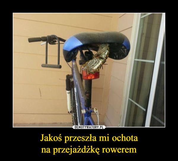 Jakoś przeszła mi ochotana przejażdżkę rowerem –