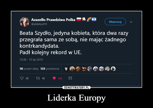 Liderka Europy