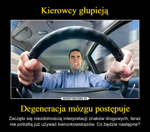 Kierowcy głupieją Degeneracja mózgu postępuje