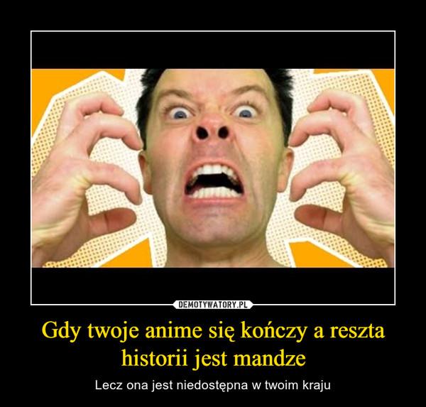Gdy twoje anime się kończy a reszta historii jest mandze – Lecz ona jest niedostępna w twoim kraju