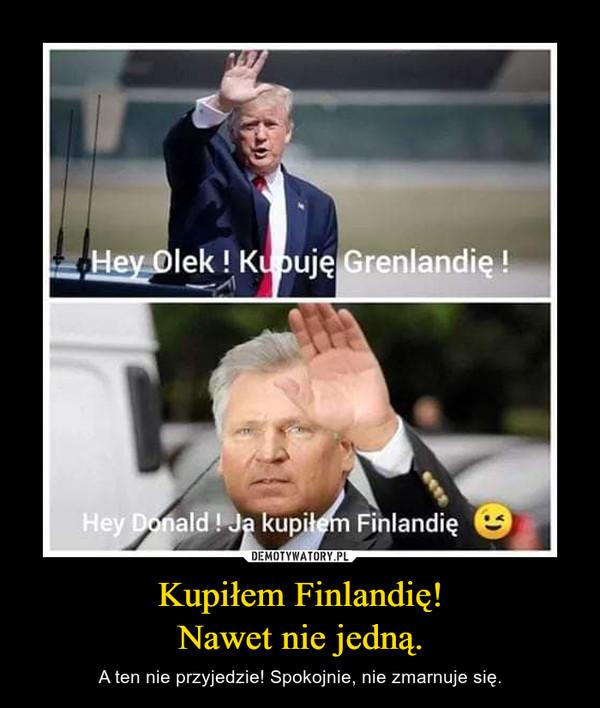 Kupiłem Finlandię!Nawet nie jedną. – A ten nie przyjedzie! Spokojnie, nie zmarnuje się.