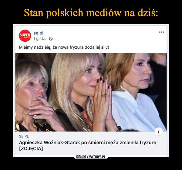 –  Miejmy nadzieję, że nowa fryzura doda jej siły! ••• SE Agnieszka Woźniak-Starak po śmierci męża zmieniła fryzurę [ZDJĘCIA]