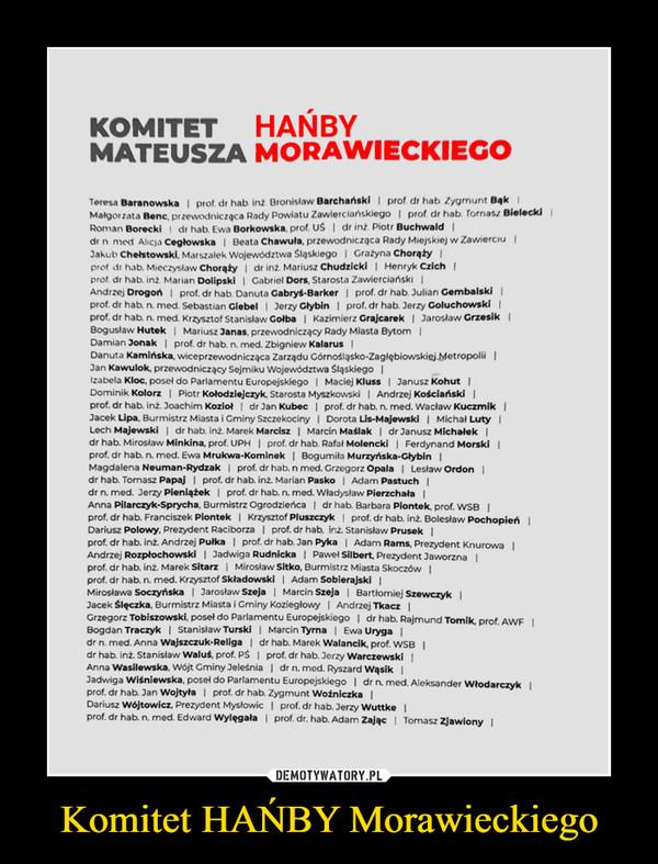 Komitet HAŃBY Morawieckiego –