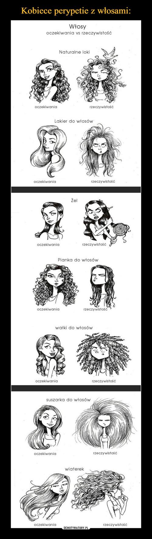 Kobiece perypetie z włosami: