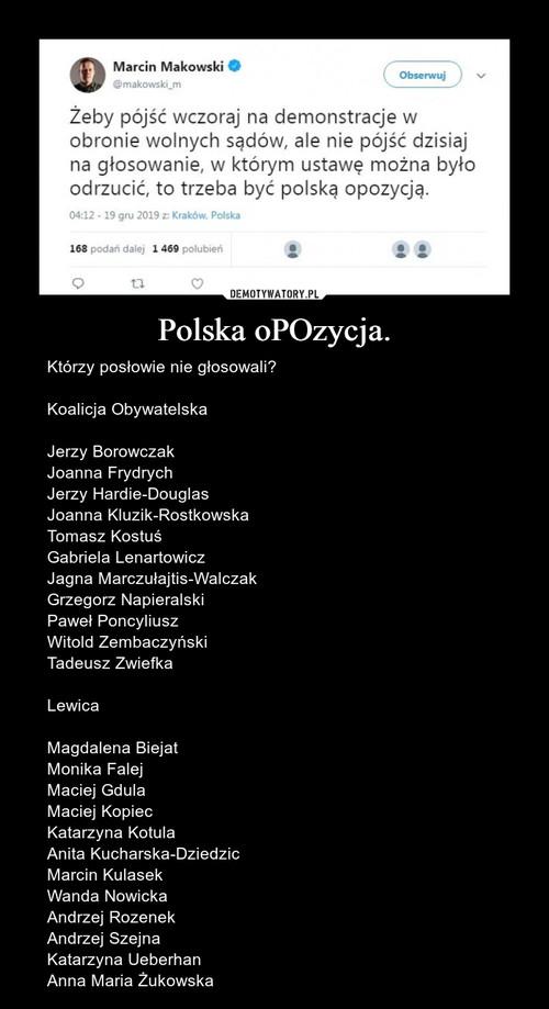 Polska oPOzycja.