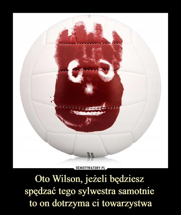 Oto Wilson, jeżeli będziesz spędzać tego sylwestra samotnie to on dotrzyma ci towarzystwa –