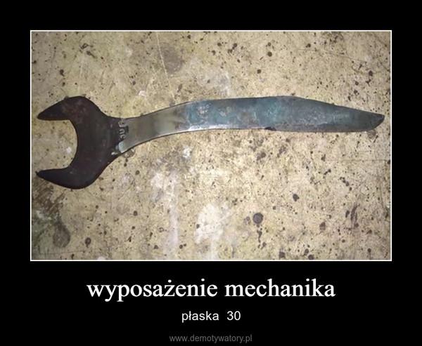 wyposażenie mechanika – płaska  30