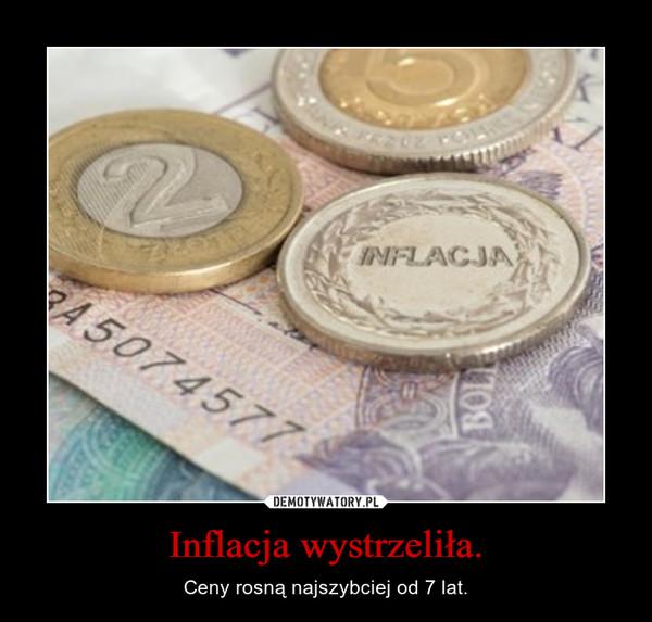 Inflacja wystrzeliła. – Ceny rosną najszybciej od 7 lat.