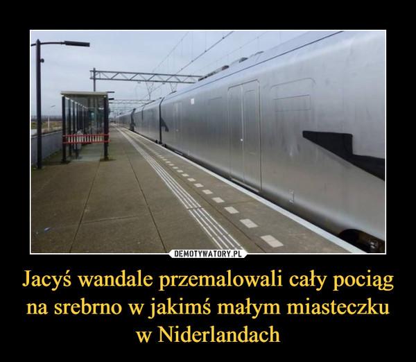 Jacyś wandale przemalowali cały pociąg na srebrno w jakimś małym miasteczku w Niderlandach –
