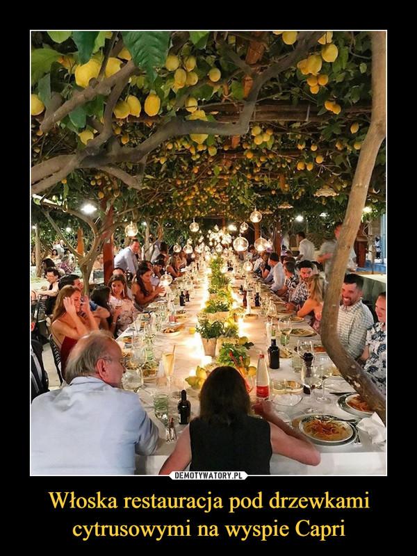 Włoska restauracja pod drzewkami cytrusowymi na wyspie Capri –
