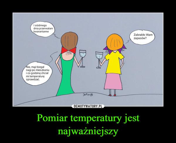 Pomiar temperatury jest najważniejszy –
