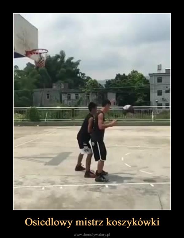 Osiedlowy mistrz koszykówki –