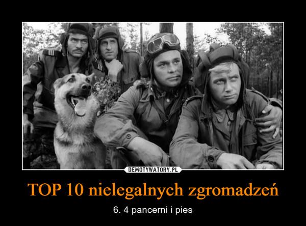 TOP 10 nielegalnych zgromadzeń – 6. 4 pancerni i pies
