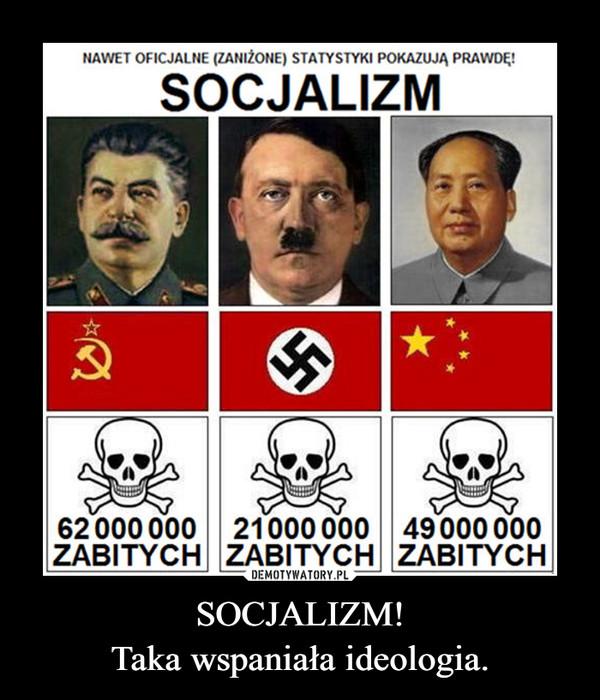 SOCJALIZM!Taka wspaniała ideologia. –