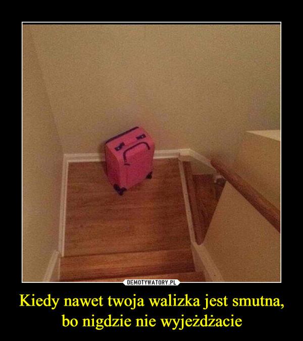 Kiedy nawet twoja walizka jest smutna, bo nigdzie nie wyjeżdżacie –