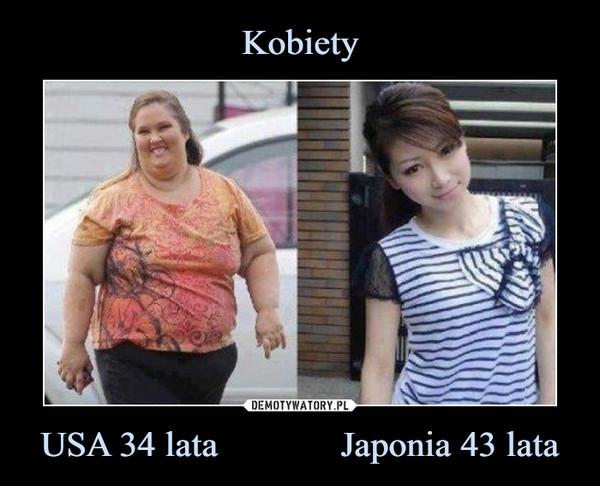 USA 34 lata             Japonia 43 lata –