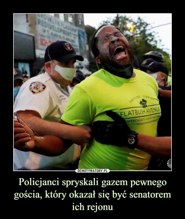 Policjanci spryskali gazem pewnego gościa, który okazał się być senatorem ich rejonu –