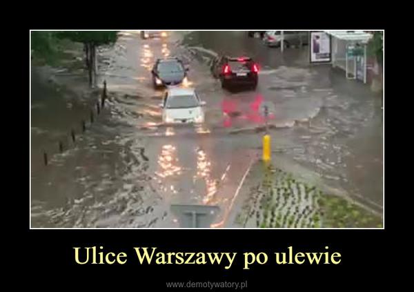 Ulice Warszawy po ulewie –