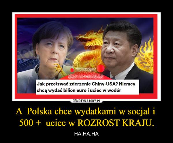 A  Polska chce wydatkami w socjal i  500 +  uciec w ROZROST KRAJU. – HA,HA,HA
