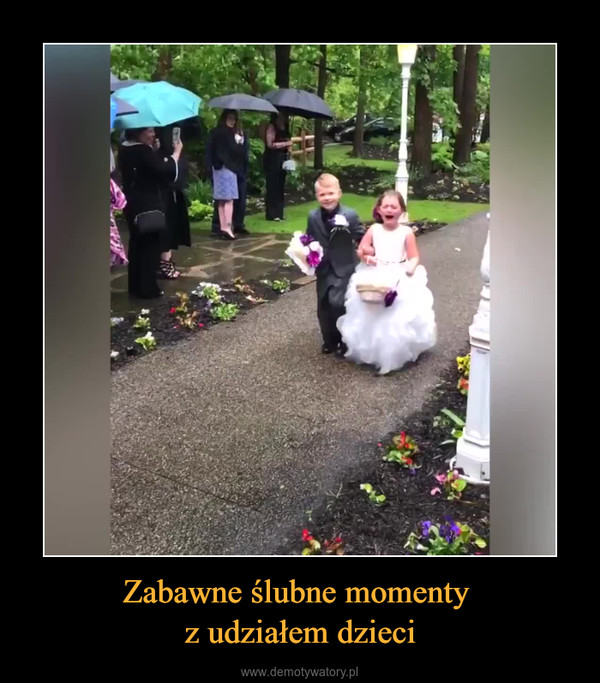 Zabawne ślubne momenty z udziałem dzieci –