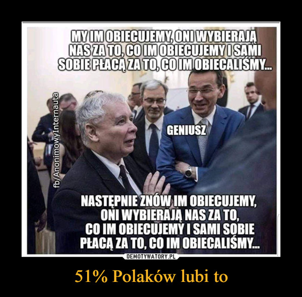 51% Polaków lubi to –