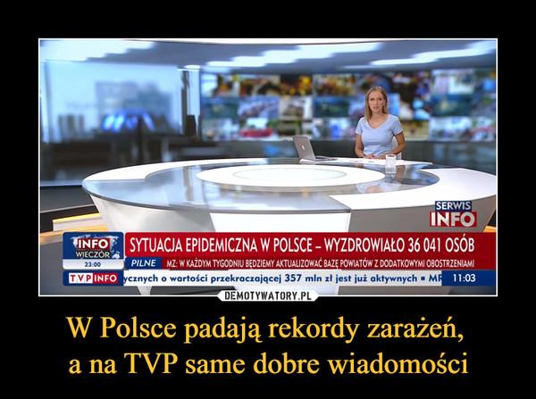 W Polsce padają rekordy zarażeń, a na TVP same dobre wiadomości –