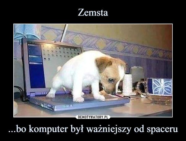 ...bo komputer był ważniejszy od spaceru –