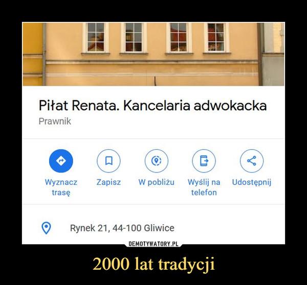 2000 lat tradycji –  Piłat Renata. Kancelaria adwokackaPrawnik