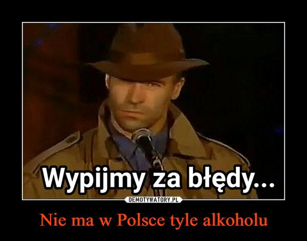Nie ma w Polsce tyle alkoholu –  Wypijmy za błędy...