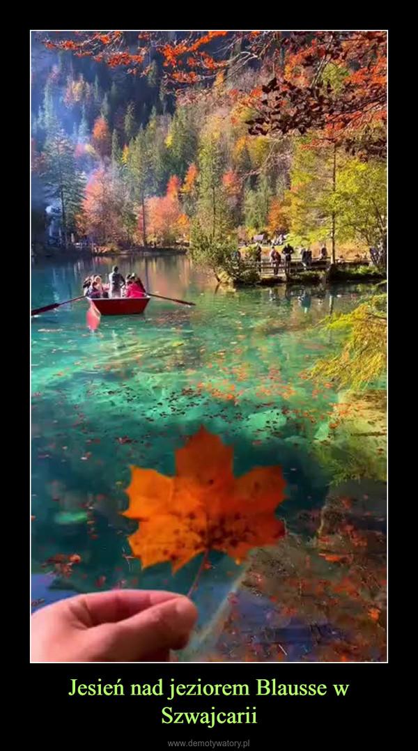 Jesień nad jeziorem Blausse w Szwajcarii –
