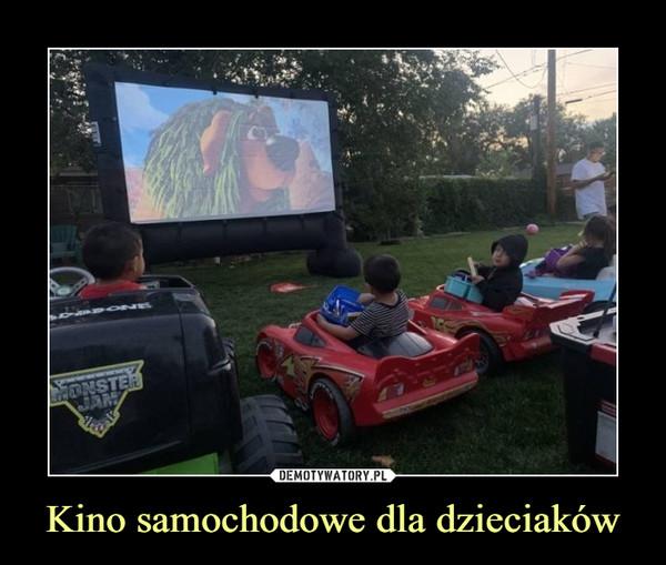 Kino samochodowe dla dzieciaków –