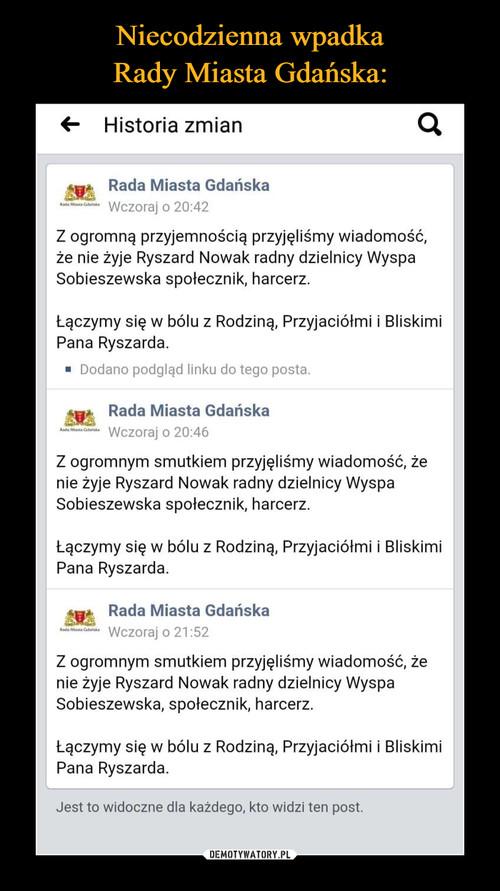 Niecodzienna wpadka Rady Miasta Gdańska: