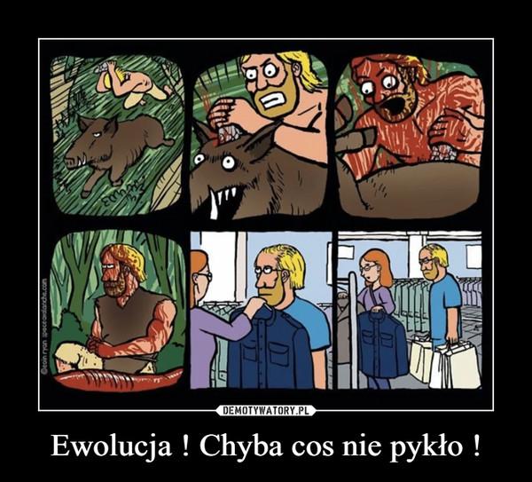 Ewolucja ! Chyba cos nie pykło ! –