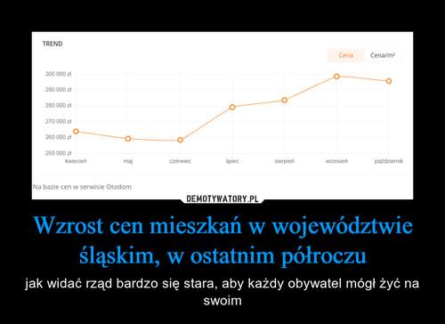 Wzrost cen mieszkań w województwie śląskim, w ostatnim półroczu