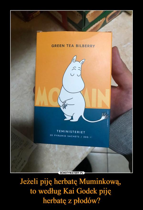 Jeżeli piję herbatę Muminkową, to według Kai Godek piję herbatę z płodów? –