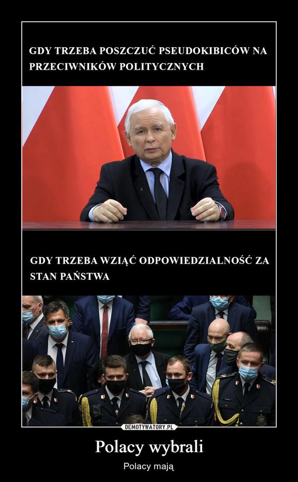 Polacy wybrali – Polacy mają
