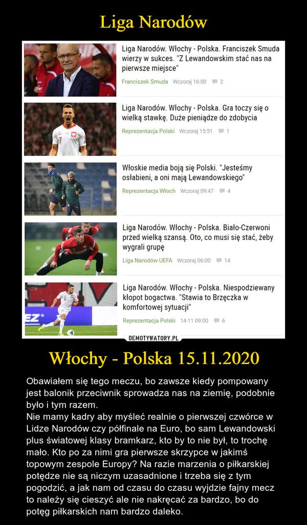 Liga Narodów Włochy - Polska 15.11.2020
