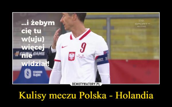 Kulisy meczu Polska - Holandia –