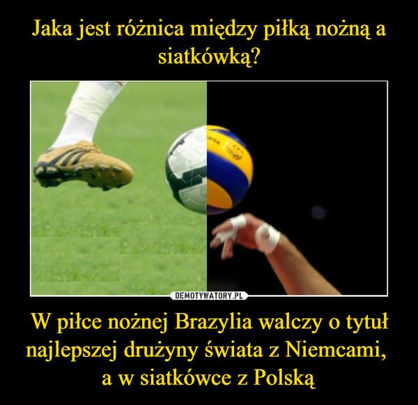 W piłce nożnej Brazylia walczy o tytuł najlepszej drużyny świata z Niemcami, a w siatkówce z Polską –