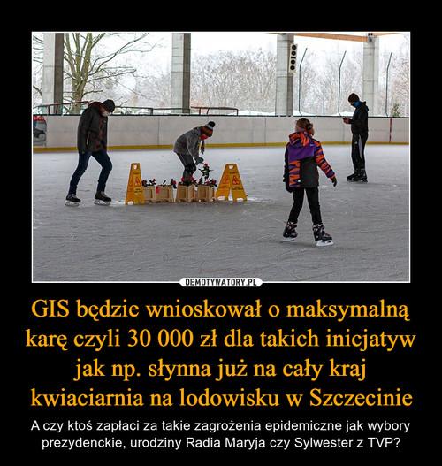 GIS będzie wnioskował o maksymalną karę czyli 30 000 zł dla takich inicjatyw jak np. słynna już na cały kraj kwiaciarnia na lodowisku w Szczecinie