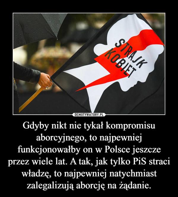 Gdyby nikt nie tykał kompromisu aborcyjnego, to najpewniej funkcjonowałby on w Polsce jeszcze przez wiele lat. A tak, jak tylko PiS straci władzę, to najpewniej natychmiast zalegalizują aborcję na żądanie. –
