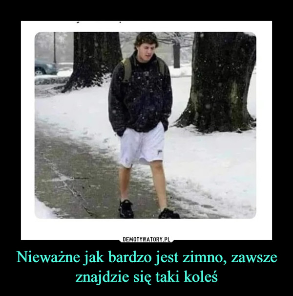 Nieważne jak bardzo jest zimno, zawsze znajdzie się taki koleś –