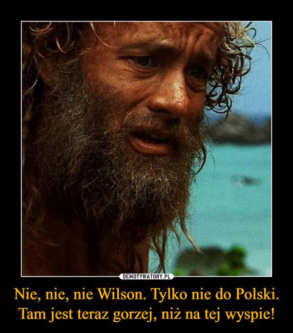 Nie, nie, nie Wilson. Tylko nie do Polski. Tam jest teraz gorzej, niż na tej wyspie! –
