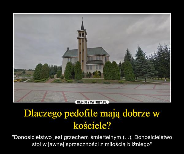 """Dlaczego pedofile mają dobrze w kościele? – """"Donosicielstwo jest grzechem śmiertelnym (...). Donosicielstwo stoi w jawnej sprzeczności z miłością bliźniego"""""""