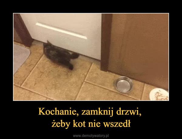Kochanie, zamknij drzwi, żeby kot nie wszedł –