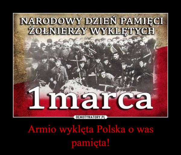 Armio wyklęta Polska o was pamięta! –